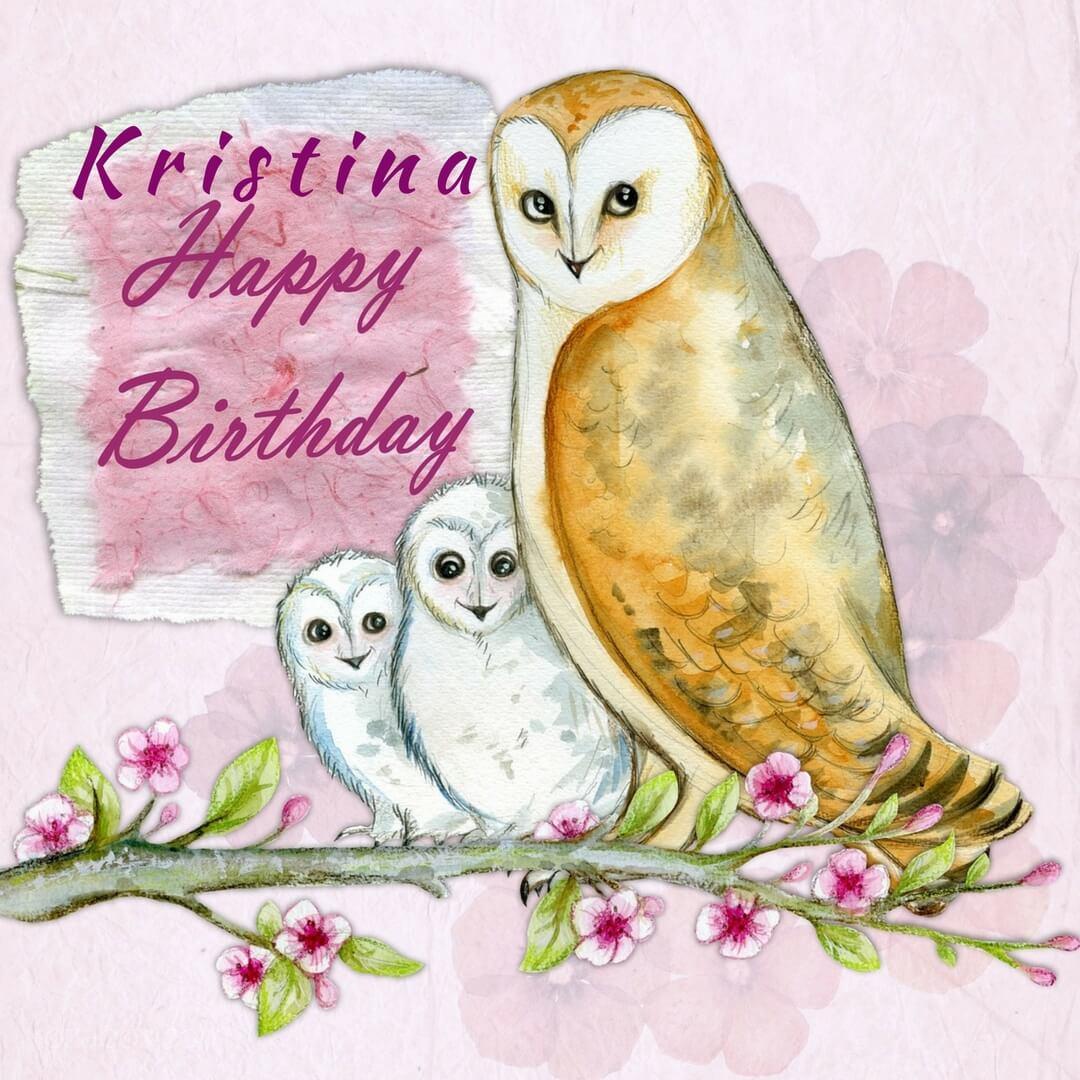 Поздравление Кристине с днем рождения картинки