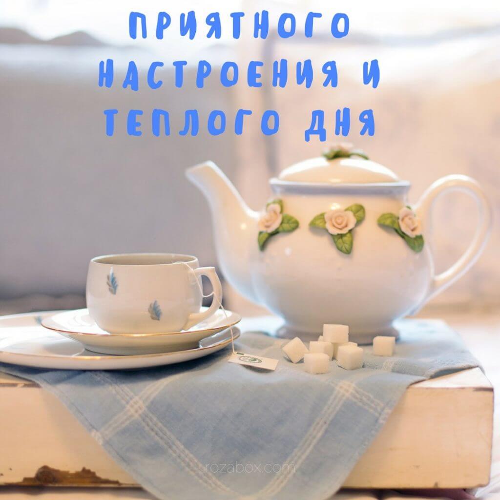 Открытки с пожеланием доброго утра, дня, вечера и спокойной 31
