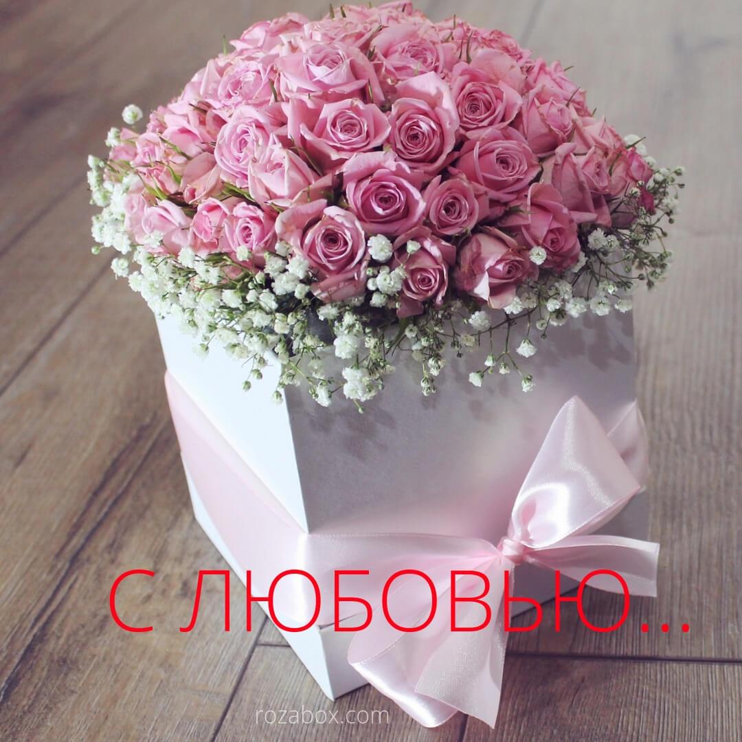 розы для женщины